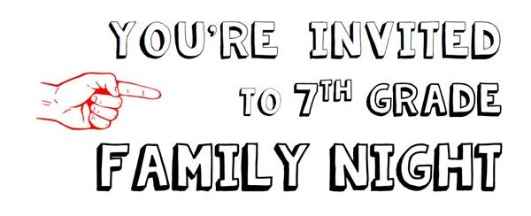 Image result for 7th grade family night