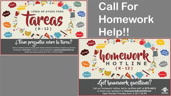 dunlap valley homework hotline