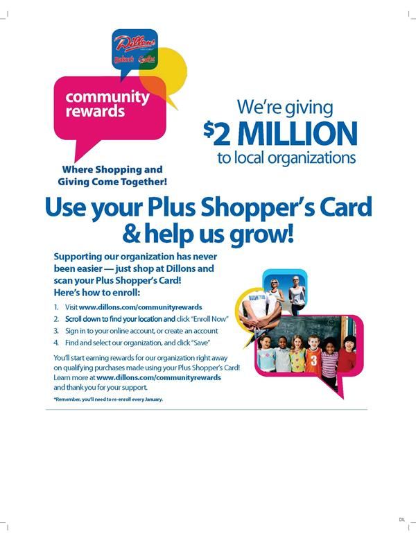 Contribute to East With Dillons Plus Shopper's Card