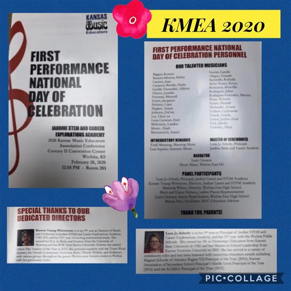 The mission of the Kansas Music Educators Association (KMEA) is to support music educators by foster