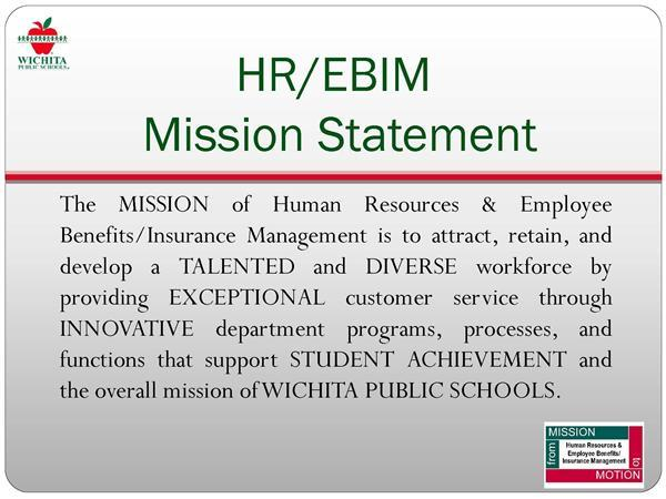 HR/EBIM Mission Statement