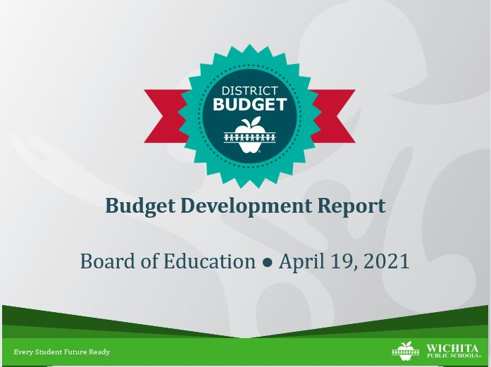 Budget Development Report opening PowerPoint slide