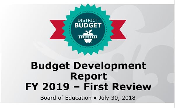 BOE presentation: First look at FY 2019 budget