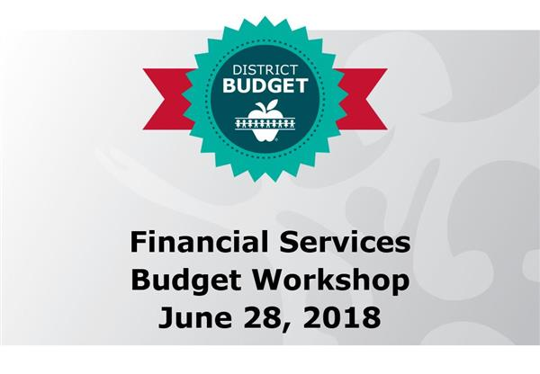 Budget workshop for the Wichita Public Schools' Board of Education