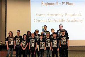 Christa McAuliffe robotics team