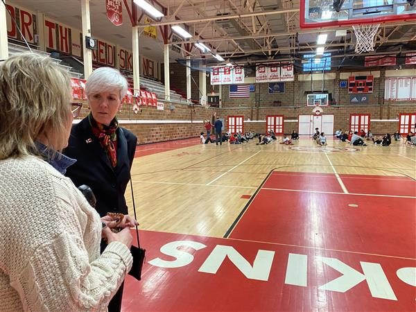 Cindy Claycomb tours North High School as Principal For a Day