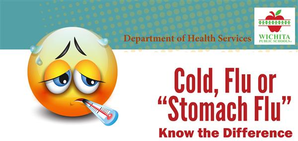Difference between cold, flu and stomach flu