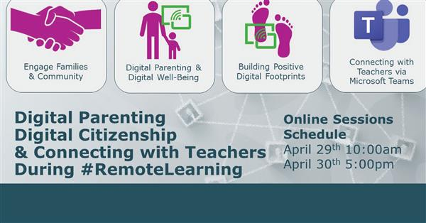 Digital Parenting, Citizenship, and Connecting With Teachers webinars offered to parents