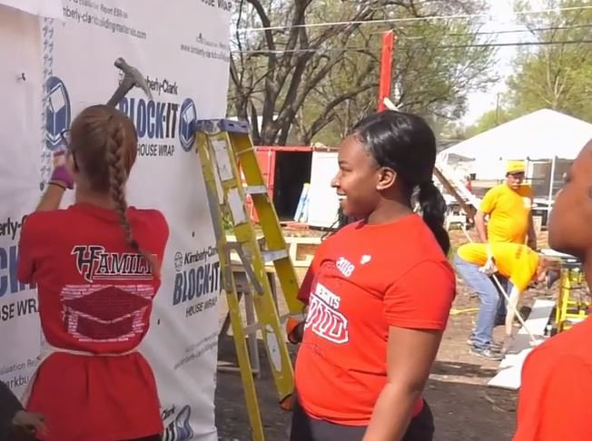 Heights students participate in a day of community service