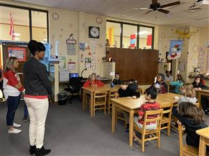 Terri Rice from Cox Communications tours Hyde Elementary as Principal For a Day.
