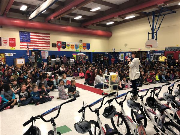 Gammon students win bikes for perfect attendance