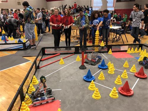 Wilbur Hosts District S First Vex Robotics Tournament