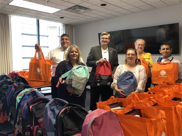 Community partners help students start the year with an abundance of supplies