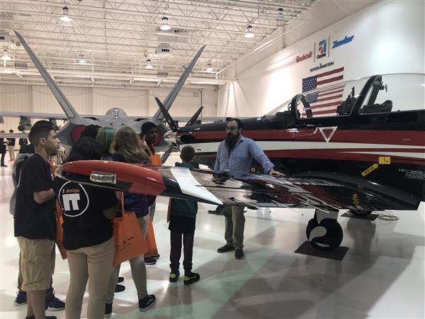 Students tour Textron Aviation during Middle School Manufacturing Day