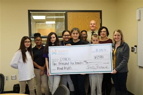 Middle and high schools surprised with grants from the Wichita Community Foundation