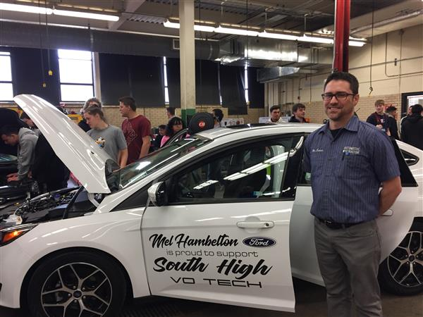 Mel Hambelton Ford donates cars to South High auto program
