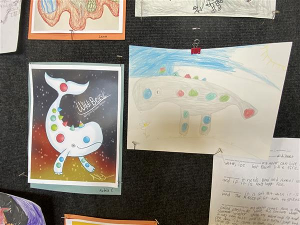 Art collaboration project between Northeast Magnet and Jackson Elementary