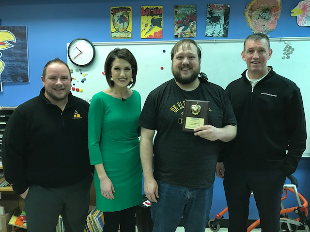 KAKE Golden Apple Award winner Grant Threlkeld