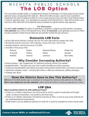 LOB information sheet