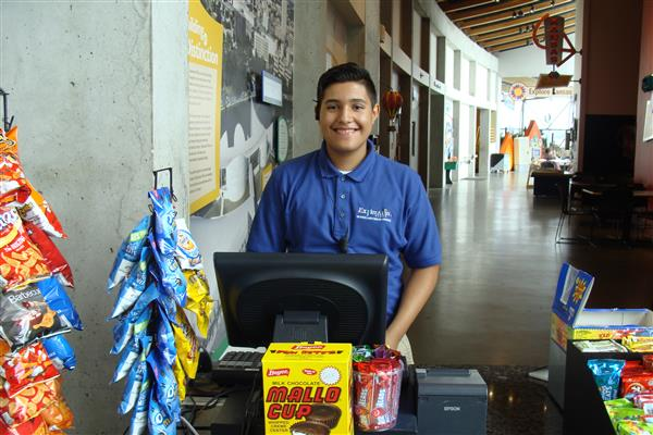 Wichita Public Schools student working at Exploration Place