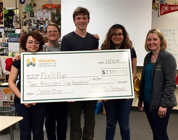 North High School Calmer Minds group receives Wichita Community Foundation grant.