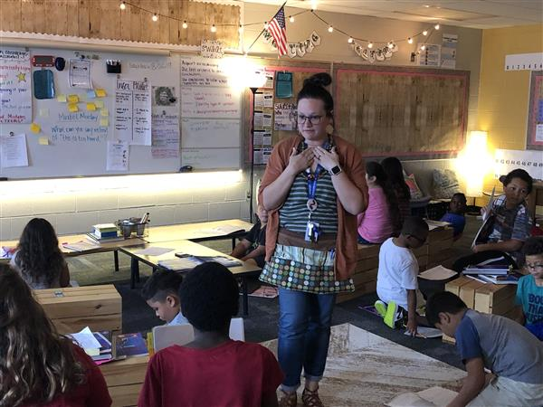 Washington Elementary third-grade teacher Leslie McEntire