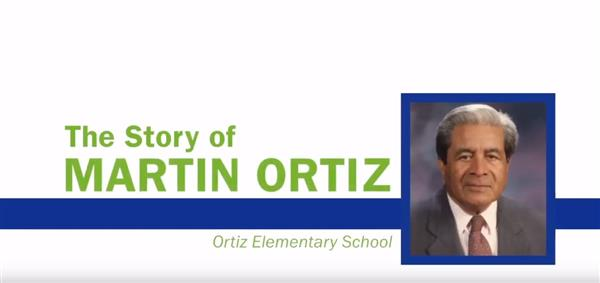 Celebrating the 100th birthday of Ortiz Elementary's namesake, Martin Ortiz