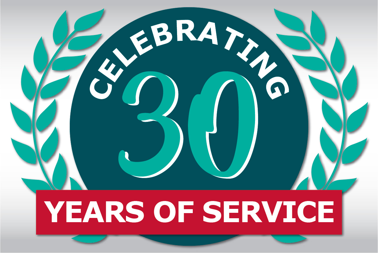 Celebrating the service of long-time employees - 30 years