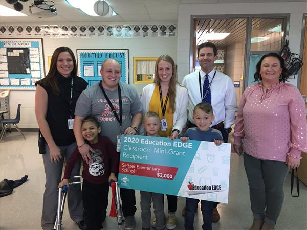 Seltzer Elementary structured learning teacher Jessica Aaby received a $3,000 Education EDGE grant