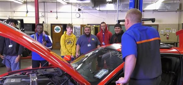 Students at South High School are being introduced to the ACES web-based automotive curriculum