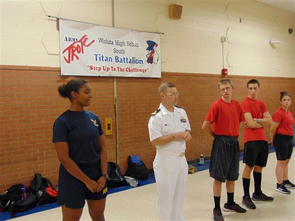 Wichita Navy Week visits South High School