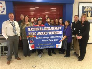 South High Nutrition Services team recognized
