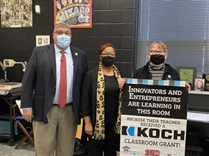 Southeast High drama teacher Martha Gates receives Koch classroom grant