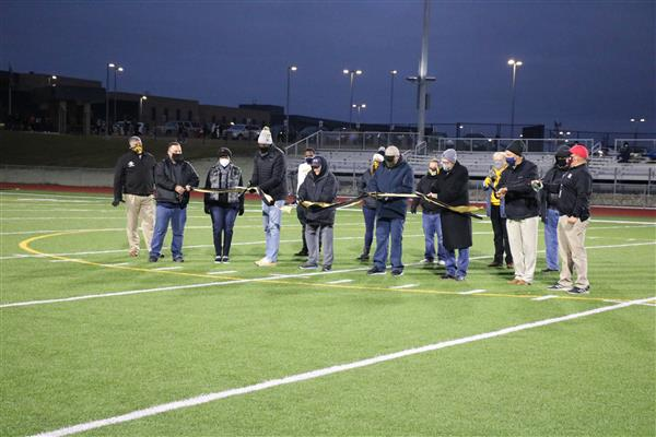 Ribbon cutting held for new stadium at Southeast High School
