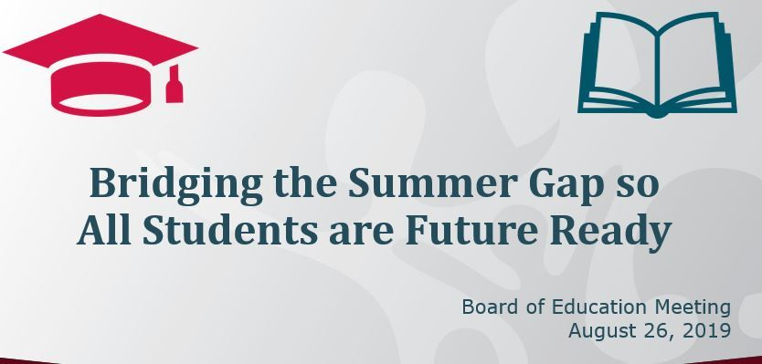 Title slide of presentation on outcomes of 2019 summer education programs