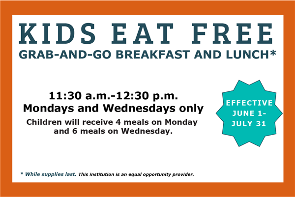 Summer food program update: No food service on Monday, July 6.