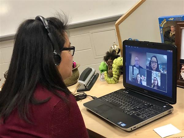Virtual mentoring for second-year teachers
