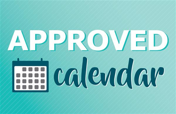 Approved Calendar graphic