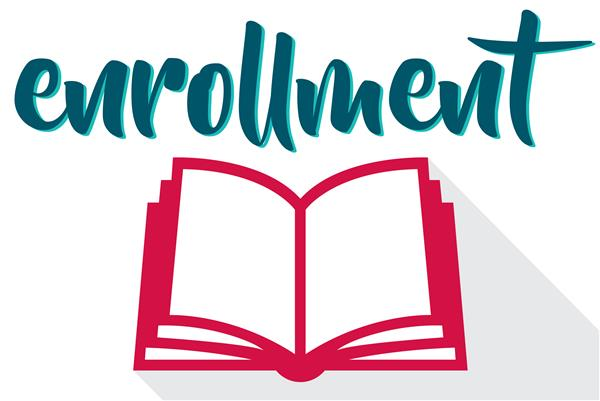 Enrollment graphic that links to enrollment website