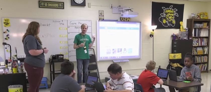 Bryant Opportunity Academy students learn coding with WSU students