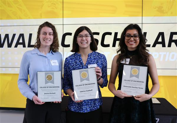 Three WPS seniors receive WSU Wallace Scholarships