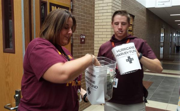 West High School raised funds for hurricane victims
