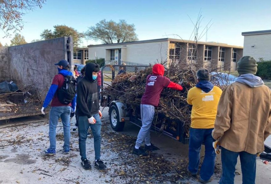 West High School community clean-up event