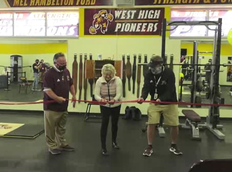Video:  West High Dedicates new weight room
