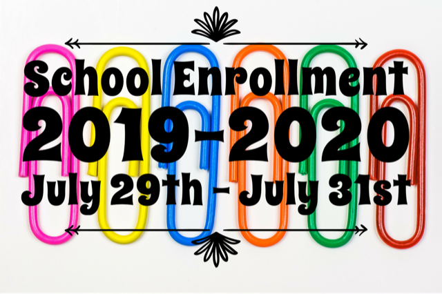 Enrollment July 30- Aug. 1