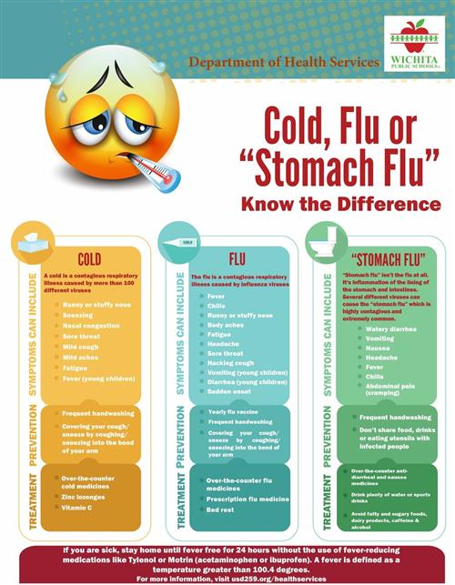 "Cold, Flu or ""Stomach Flu"" Know the Difference"