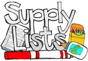 School Supply Lists for all grades