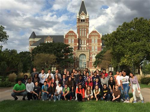Members of the first Early College Academy class visit Friends University