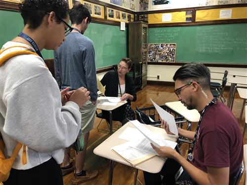 East IB seniors turn in college portfolios for review