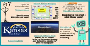 Picture of a grid of the six activities to explore